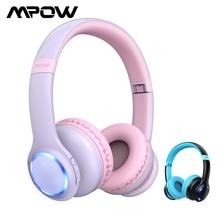 Mpow CH9 Kinder Kopfhörer Faltbare Bluetooth Kopfhörer Mit Mic LED Licht 85dB Volumen Grenze Headset Für Jungen Mädchen Teens Kinder