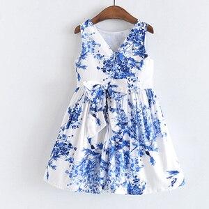 Image 2 - فستان سترة للبنات من LOVE DD & MM موضة 2020 ملابس أطفال جديدة للبنات مطرز بثلاثة أبعاد فستان سترة مطبوع عليه شجرة زرقاء