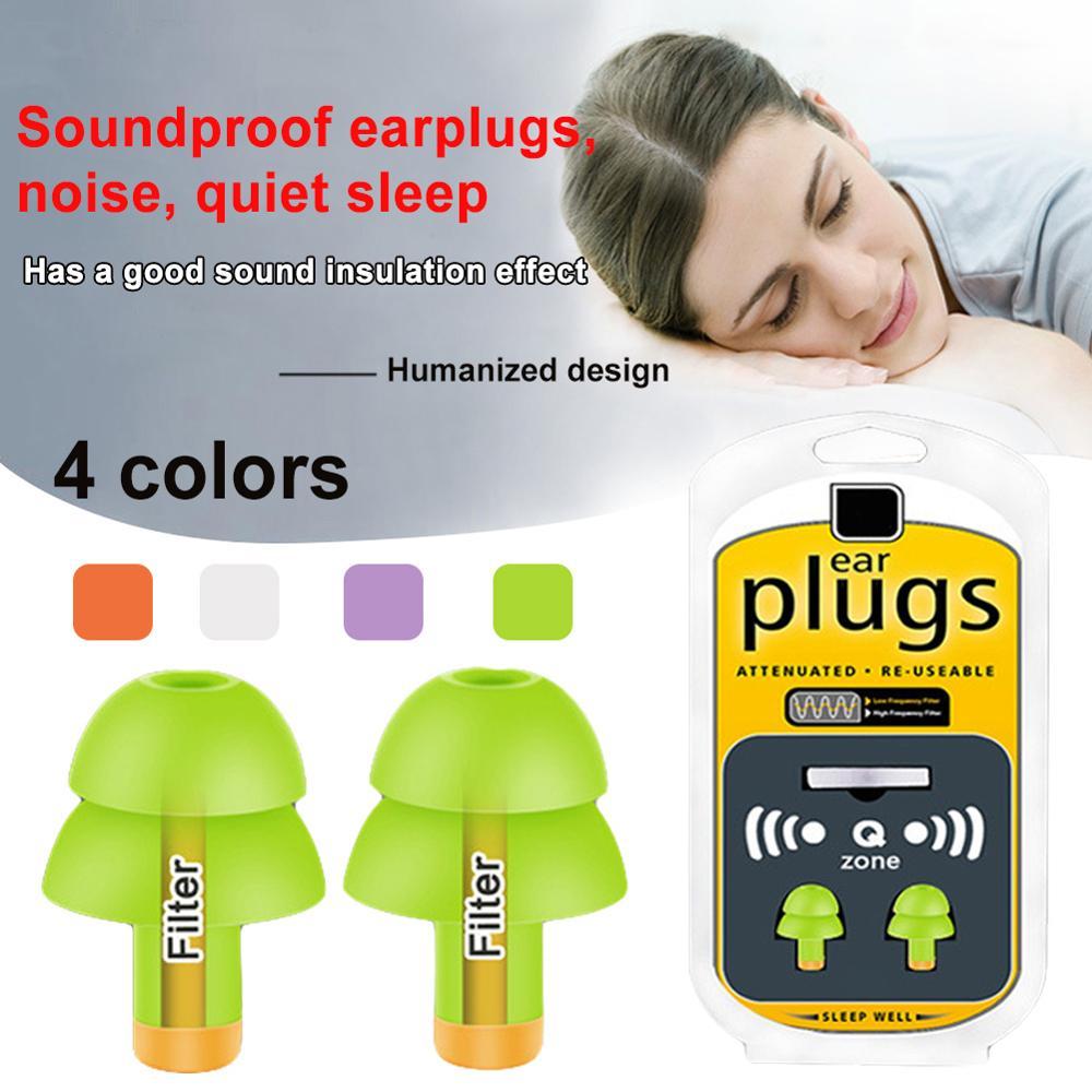 4 Pairs Ear Plugs Memory Soft Foam Sleep Travel Noise Reducer Protectors Earplug