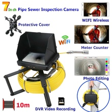 MAOTEWANG10M/20M/30M/40M/50M Industrial Pipe Sewer Inspection Video HD 1080P Camera with Meter Counter/ DVR Video/Photo Editing