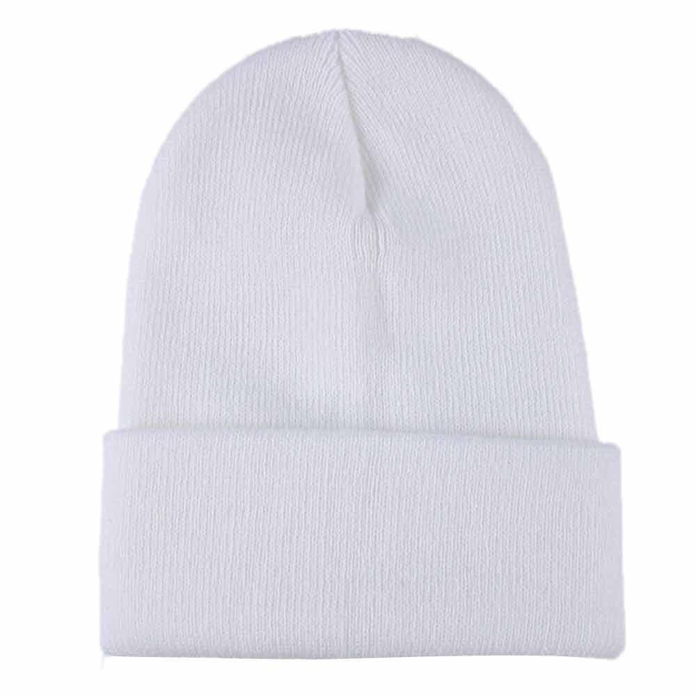 Осенне-зимняя одежда из шерсти смеси мягкий теплый вязаный Кепки Повседневное Chapeau унисекс сапоги высотой выше колена Вязание шапка в стиле хип-хоп кепка, теплая зимняя Лыжная шапка# Y5 - Цвет: Белый