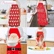 Christmas Kitchen Santa Claus Apron Merry Christmas Decorations For Home 2019 Christmas Decor Navidad Xmas Gifts New Year 2020 цена