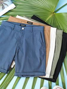 Shorts Men Solid-Color-Pants Summer Knee-Length Plus-Size SIMWOOD SJ130359 Washed Classical
