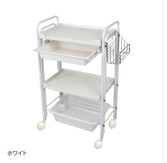 Купить с кэшбэком Beauty salon nail small instrument cart three-layer tool trolley rack hair salon hair salon hot dye cart.