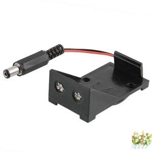 1pcs 9V Wire DC Plug For Arduino Case Holder Battery Storage Clip Box 5.5 x 2.1mm