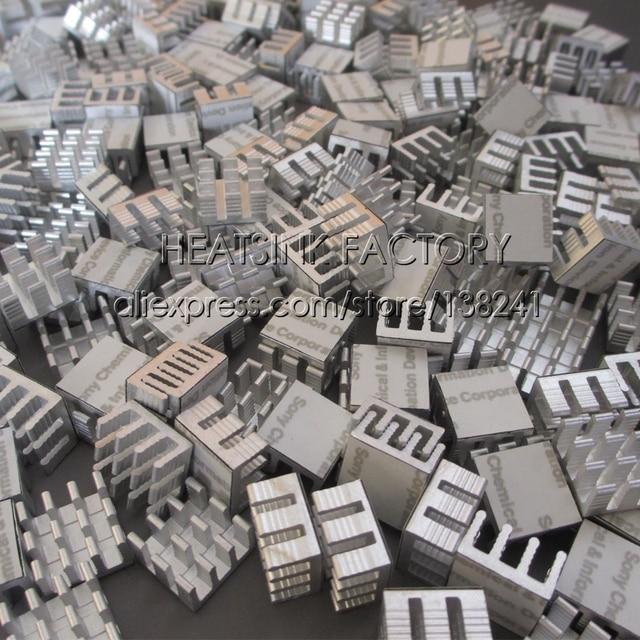 100 Pcs/Lot 14x14x8mm aluminium radiateur dissipateur de chaleur Extrusion refroidisseur avec ruban thermique pour LM2596 LM2577 LM2576