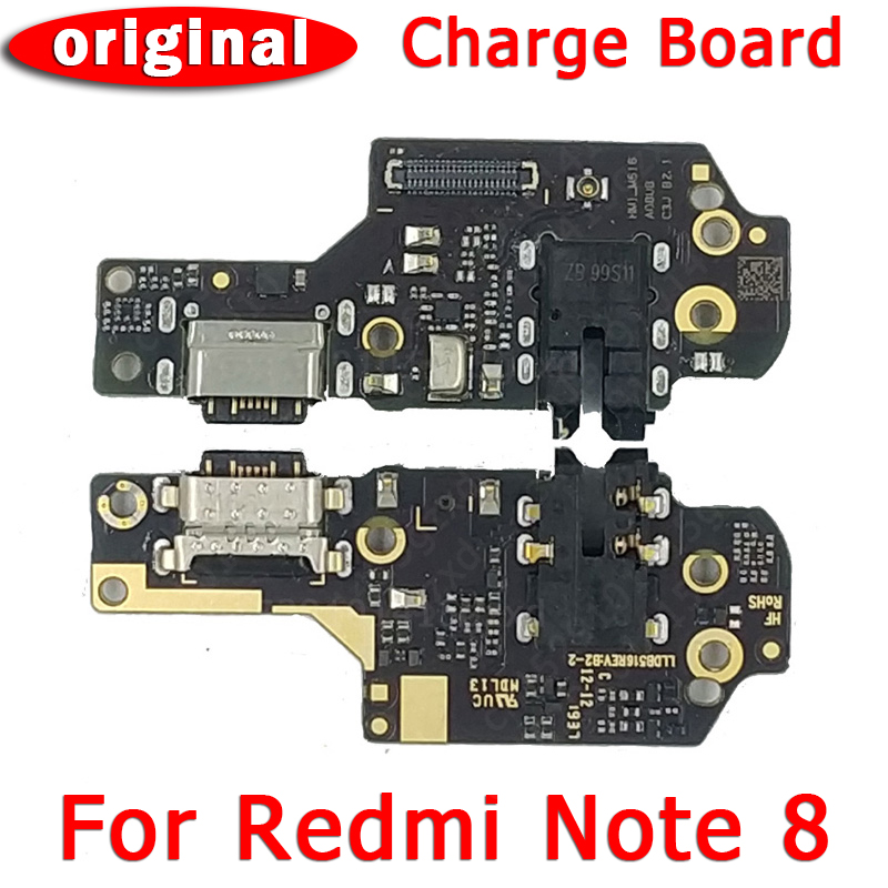 Original Usb Charge Board For Xiaomi Redmi Note 8 Pcb Dock Connector Flex Cable Replacement Parts Charging Port For Redmi Note 8