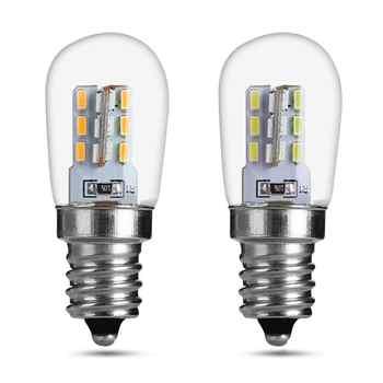LED Light Bulb 2W E12 High Bright Glass Shade Lamp Pure Warm White Lighting 220V Spotlight For Sewing Machine Refrigerator