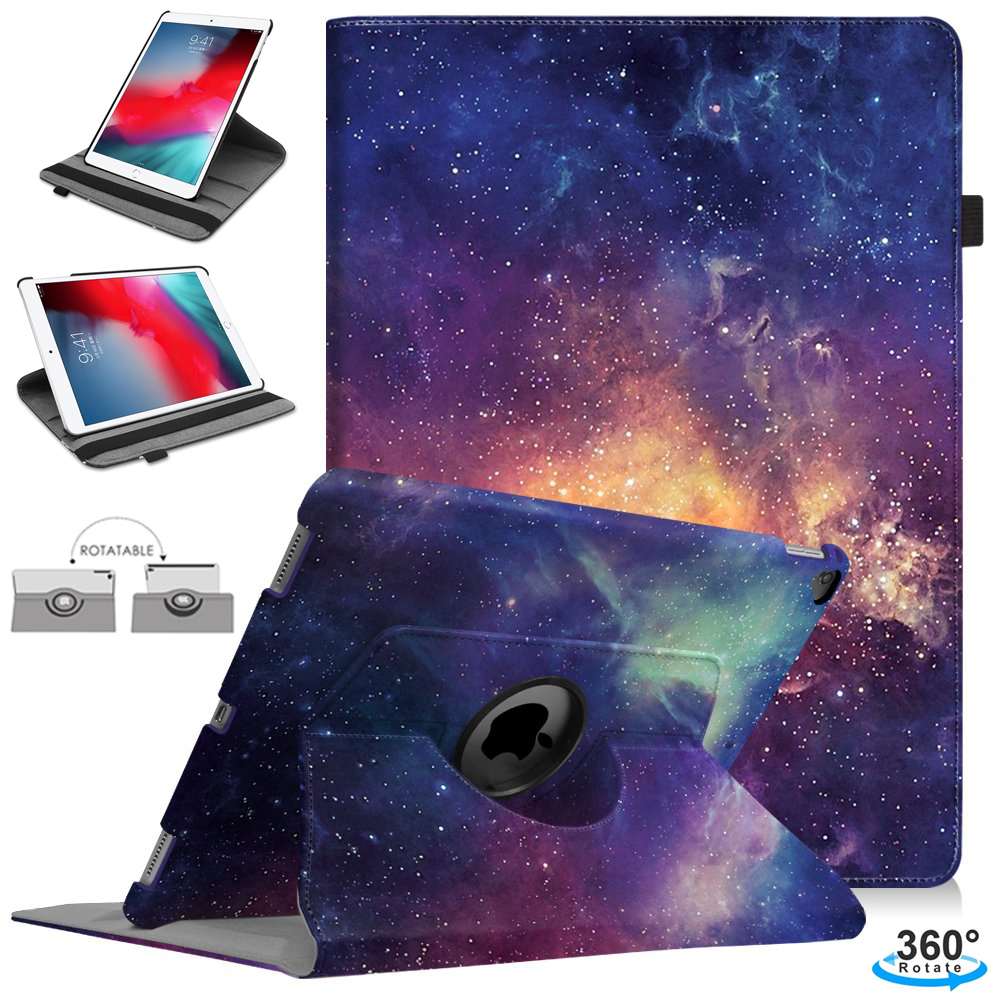 360 Degree Rotating Stand Case For IPad 2018 2017 9.7 IPad Air 2 Leather Flip Cover For IPad Air 2 Case For IPad 6th Generation