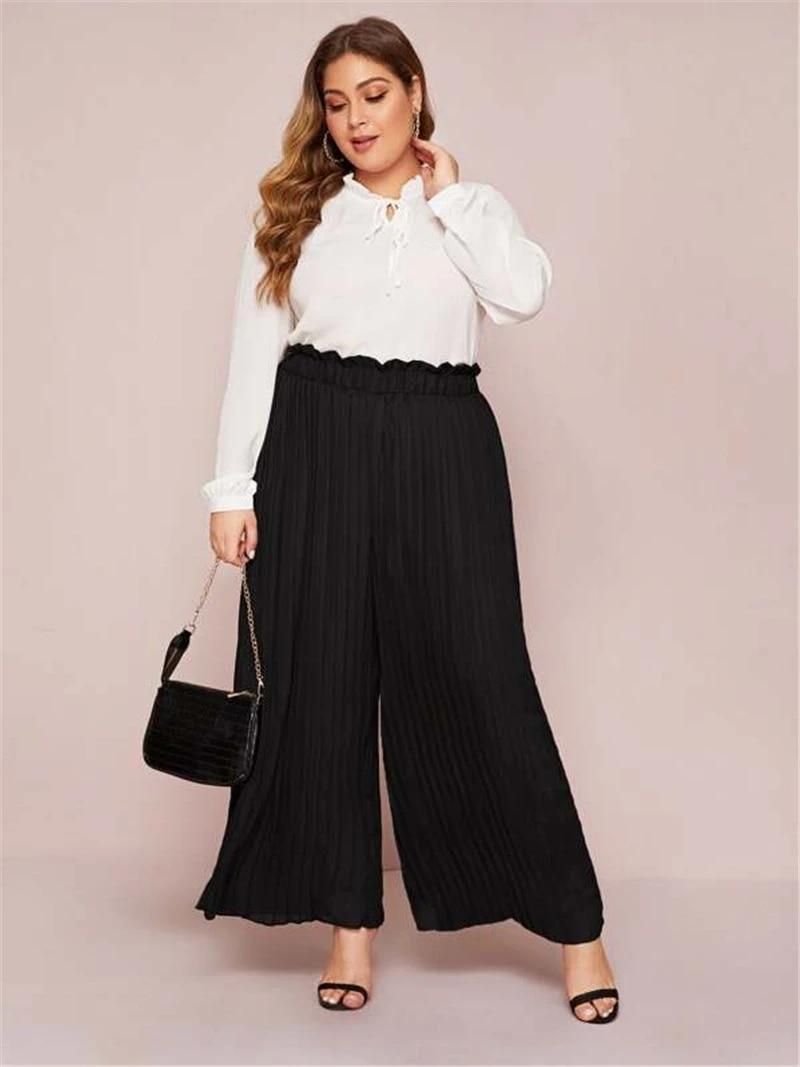 High Waisted Baggy Black Pants