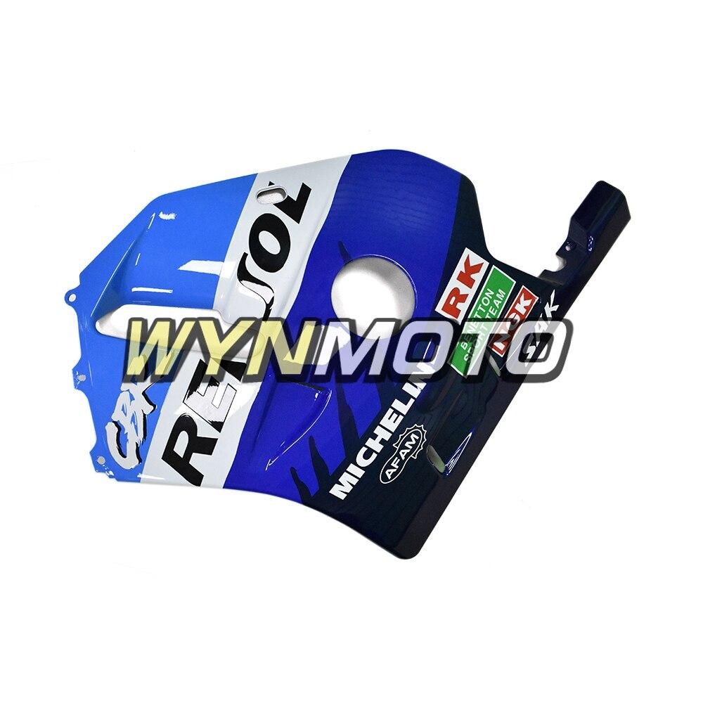Repsol сине белые Обтекатели для Honda CBR250RR 1990 1994 впрыск АБС пластмасса MC22 90 91 92 93 94 Кузов Мотоцикл охватывает - 5
