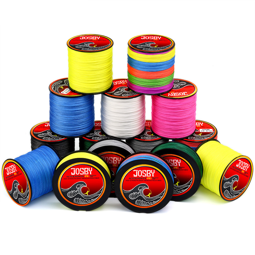 JOSBY carp braided fishing line linha multifilamento Super strong fishing braid tresse  fly Fish Tackle 4 8 Strands PE 150M 300M