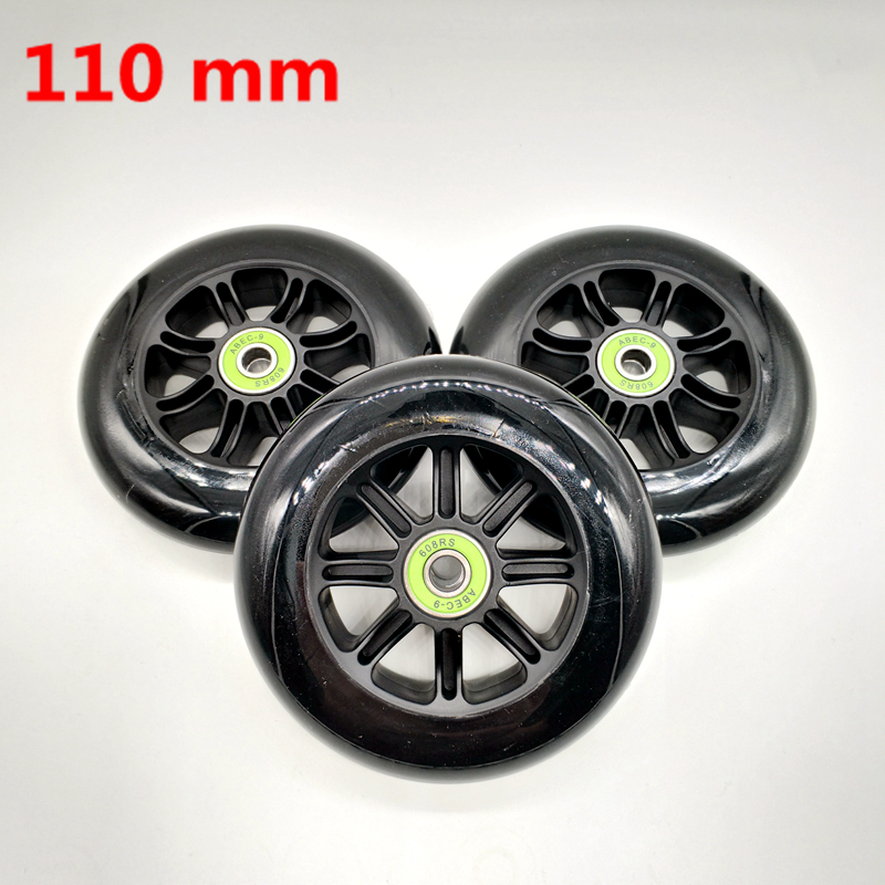 Free Shipping Scooter Wheels 110 Mm 3 Pcs / Lot Including Bearing ABEC-9