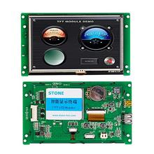 цена на 2015 5 inch plc hmi lower price TFT LCD dot matrix touch screen TTL interface