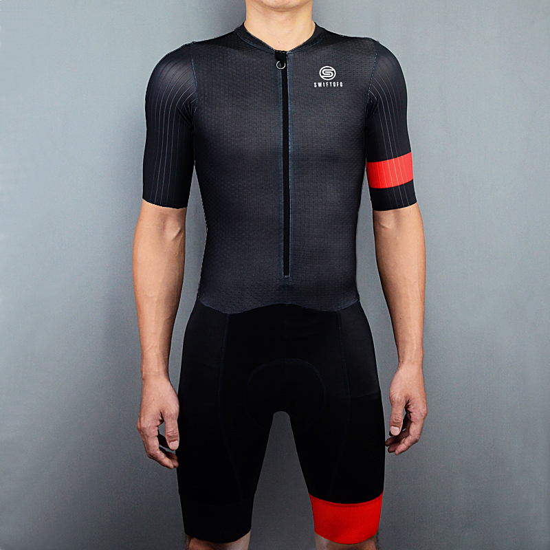 Swiftofo Black Skinsuit Cycling Suits Man Triathlon Road Cycling Set Ropa Ciclismo Maillot Bike Sports Jumpsuit With Pockets