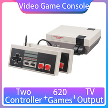 Video Game Consoles, NES Retro 8 Bit Console, Built-in 620 Games, Support Double Player, TV Output, Gift for Kids