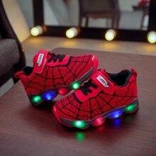 Светящаяся детская обувь для мальчиков и девочек; светильник; Детские светящиеся кроссовки; спортивная обувь для бега