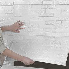3d Wall Brick Foam Self-adhesive Stickers Kindergarten Background Home Anti-collision Waterproof Q