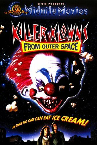 Killer Klowns From Outer Space Movie Silk Cloth Poster Art Bedroom Decoration image