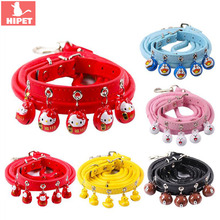 Dog Collar and Leash Set Pet Cat With Bell Personalized Safty Adjustable For Small Dogs Cats Puppy Kitten