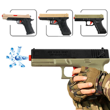 цена на 2pcs Classic M1911 Glock Toys Pistol Children's Toy Guns Soft Bullet Gun Plastic Gun Weapon Kids Outdoor Fun Game Shooter Toy