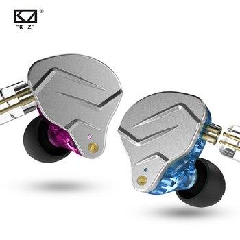 KZ ZSN Pro Metal Earphones 1BA+1DD Hybrid Technology HIFI Bass Earbuds In Ear Monitor Headphones Sport Noise Cancelling Headset 1