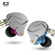 KZ ZSN פרו מתכת אוזניות 1BA + 1DD היברידי טכנולוגיה HIFI בס אוזניות באוזן צג אוזניות ספורט רעש ביטול אוזניות