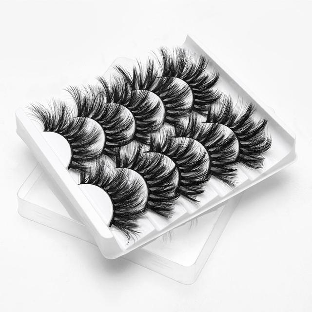 SEXYSHEEP 5Pairs 3D Mink Hair False Eyelashes Natural/Thick Long Eye Lashes Wispy Makeup Beauty Extension Tools 1