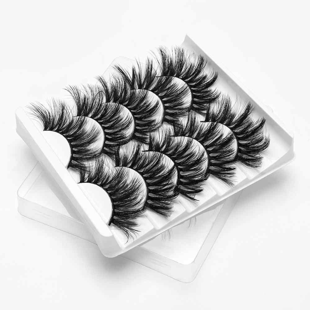 SEXYSHEEP 5Pairs 3D Nerz Haar Falsche Wimpern Natürliche/Dicken Langen Wimpern Wispy Make-Up Schönheit Verlängerung Werkzeuge