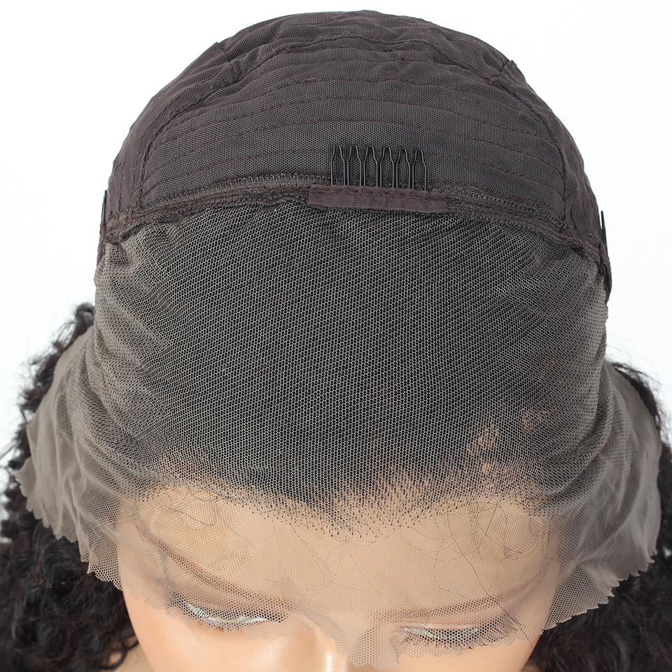 Indian Deep Curly Lace Front Wig  Wigs  Curly Wave 13x4 Glueless Lace Closure Wig Prelucked Hairline 5