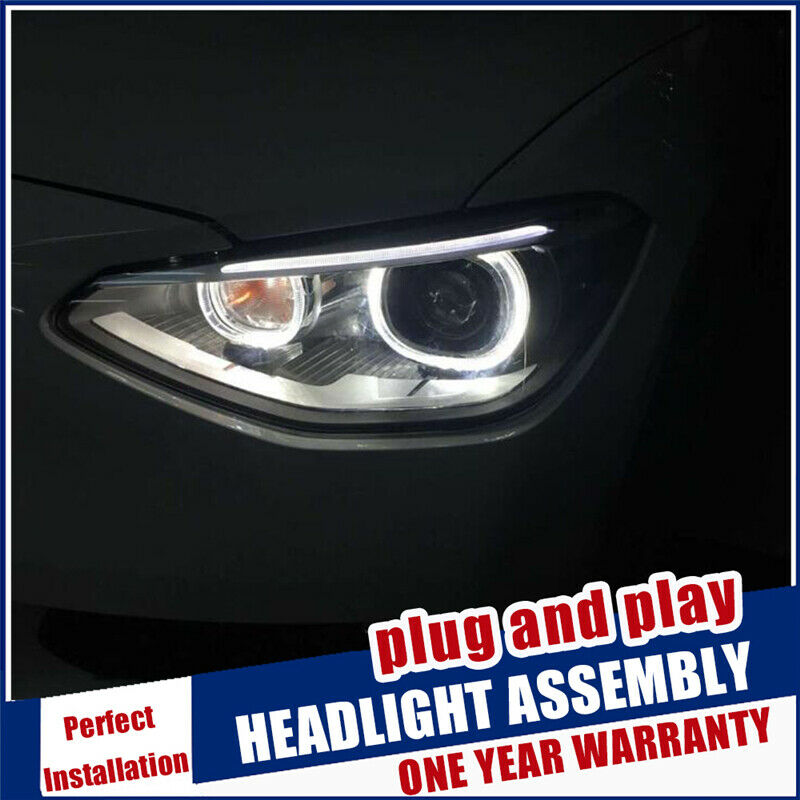 Made For BMW 1 Series F20 Headlights 2012-2015 Double Beam Lens Projector Xenon Lamps