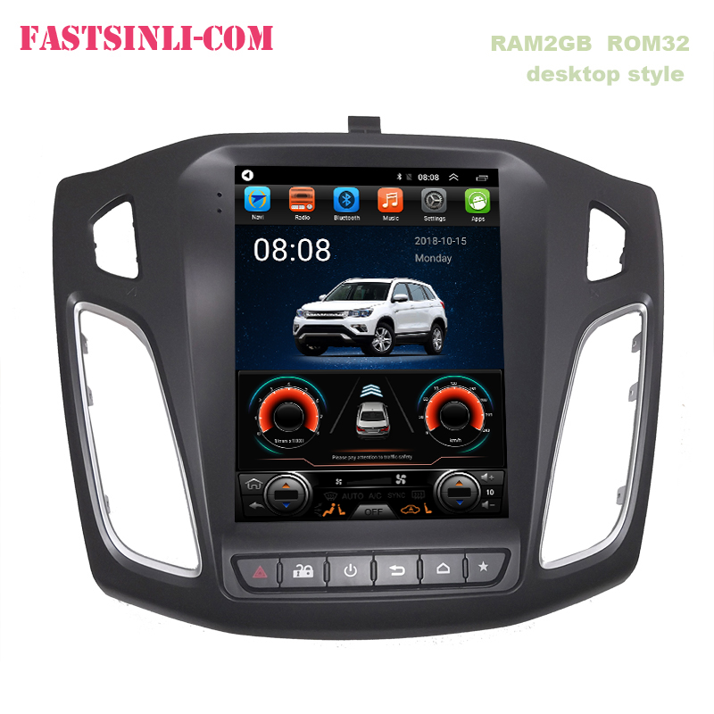 Android8.1 Tesla style Car GPS Navigation for Ford Focus 2012-2017 GPS Navigation Vertical screen(China)