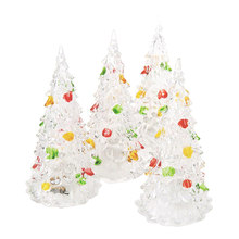 4pcs Colorful LED Christmas Tree Acrylic Stylish Special LED Christmas Prop Christmas Tree Christmas Decoration Crystal Tree(China)