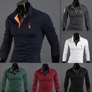 Mens Polo Shirt Long sleeves D