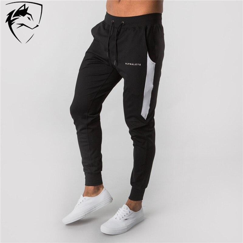 ALPHALETE Brand Casual Skinny Pants Joggers Sweatpants Men Fashion Trousers Fitness Workout  Sportswear Streetwear Pencil Pants