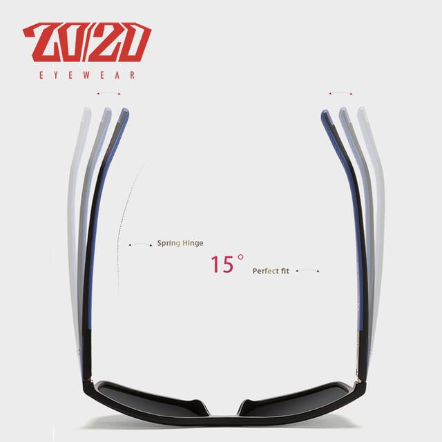 20/20 Design Polarized Tr90 Sunglasses Spring Hinge Temple UV400 Lens Eyewear For Man Woman Sun Glasses oculos gafas OC7008