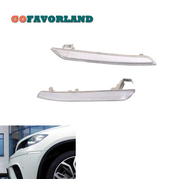 цена на Left Right Pair Clear White Side Marker Reflector 63147187087 63147187088 For BMW X6 E71 E72 2008 2009 2010 2011 2012 2013 2014
