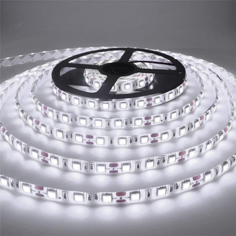 Tira de LED 2835 para decoración, cadena de lámpara de flujo luminoso más alto que el anterior 3528, 5630, 5050 SMD, 60 LED/m, 12V, 5m/rollo