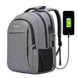 OSOCE torba na laptopa plecak 15.6 Cal z port ładowania usb wtyczka słuchawkowa wodoodporny biznes plecaki torby w Plecaki od Bagaże i torby na