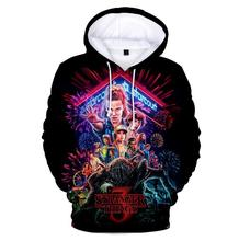 2019 Fashion Stranger Things 3D Printed Men Hooded Hoodie Sweatshirt Graphic Casual Streetwear Pullover