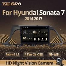 Автомагнитола TIEBRO для Hyundai Sonata 7 LF 9 2014-2017, мультимедийный видеоплеер, навигатор GPS, Android 9,0, 2din, 2 Din, DVD