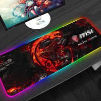 Gaming Mouse Pad RGB LED Lighting 900x400mm XL Large Dragon Pattern Keyboard Mousepad Natural Rubber Desk Mat Gamer For Laptop