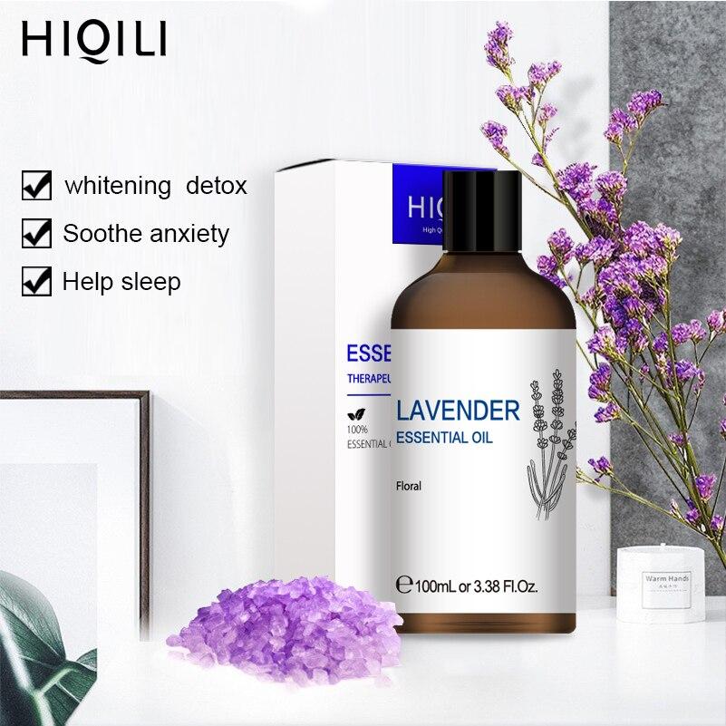 HIQILI 3.38OZ Vanilla Essential Oils 100ML Diffuser Aroma Oil Bergamot Vetiver Rosemary Chamomile Eucalyptus Orange Lemongrass
