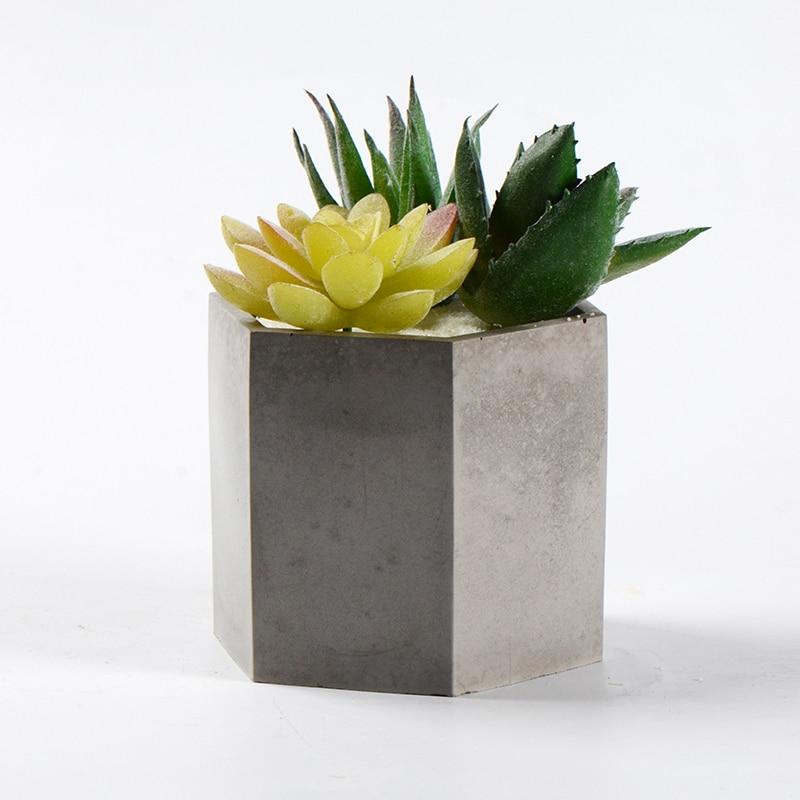 Concrete Planter Mold Cement Flower Pot Silicone Mould Handmade Pen Holder Desktop Decorating Tools