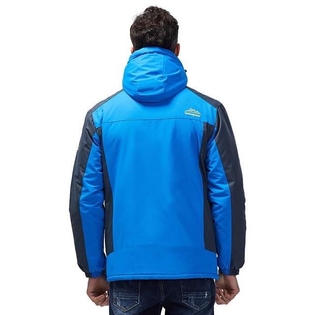 -30 C FIT Plus Thick Velvet Down & Parka Coat 6XL 7XL 8XL 9XL 2019 Warm Winter Jacket Waterproof Windproof Men's Windbreaker