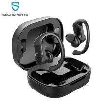 SOUNDPEATS prawdziwe bezprzewodowe wkładki douszne słuchawki nauszne słuchawki bezprzewodowe Bluetooth Stereo 13.6mm sterowanie dotykowe IPX7 wodoodporne