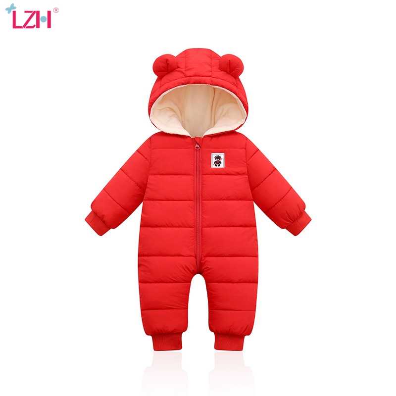 LZH Children Winter Overalls For Baby Snowsuit Infant Boys Girls Romper For Baby Warm Jumpsuit Newborn Clothes Christmas Costume