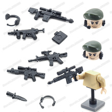 Military Weapons Equipment Building Block Moc World War 2 Figures Special Army Soldier Gun Knife Model Christmas Educational Toy sino japanese war world war 2 ww2 chinese eighth route army military building block toy figures brick with weapons 71008