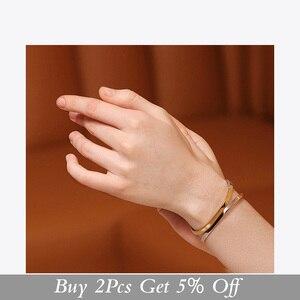 Image 2 - ENFASHION פשוט פתוח קאף צמידי צמידים לנשים מעורב צבע נירוסטה מינימליסטי תכשיטי חברים מתנות BC192007
