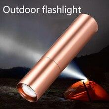 Mini LED Flashlight Tube USB Power Bank Strong Light Small Flashlight Flashlight Multi-Function Zoom Lighting Flashlight Outdoor